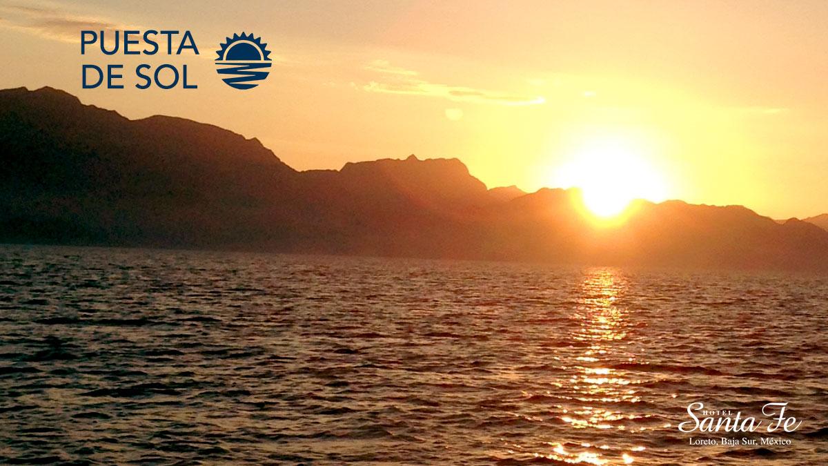 Atardecer En Loreto Baja California Puesta De Sol