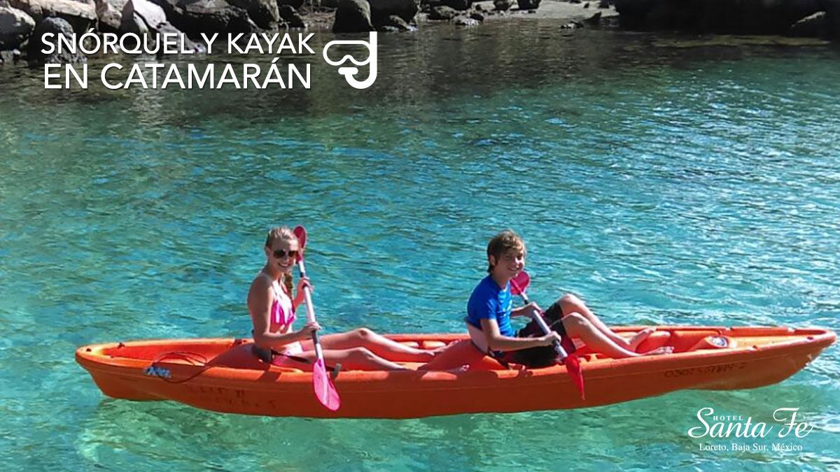 Snorquel Y Kayak En Catamaran En Loreto Baja California