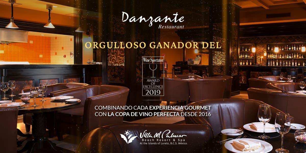 Restaurante Danzante Loreto Wine Spectator Award