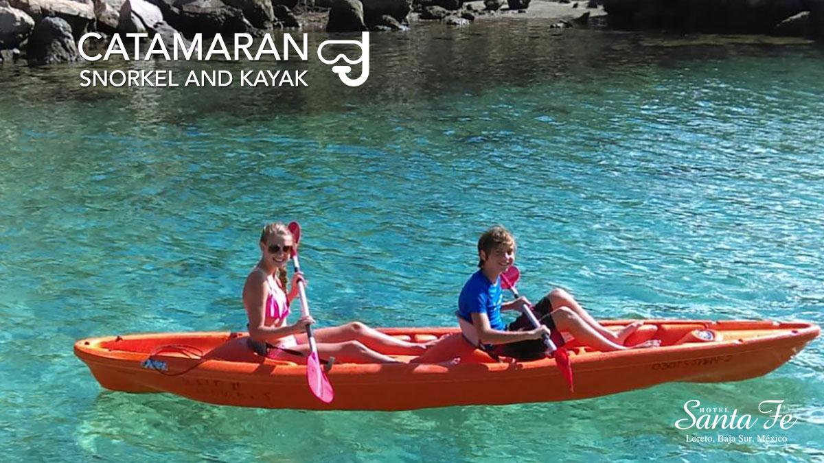 Catamaran Snorkel And Kayak In Loreto Baja California