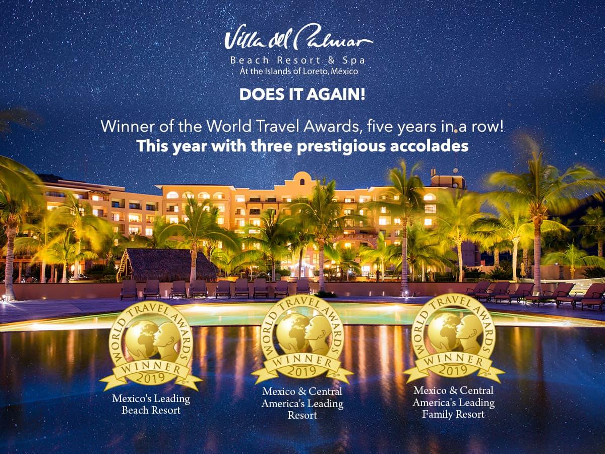 Villa Del Palmar Loreto World Travel Awards Winner