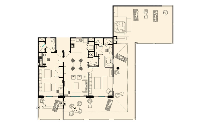 Ambassador Two Bedroom Penthouse Esp