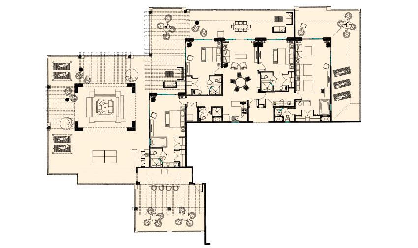 Presidential Four Bedroom Suite